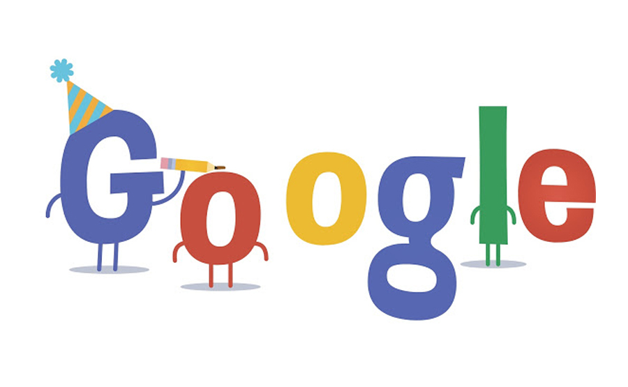 20th compleanno Google
